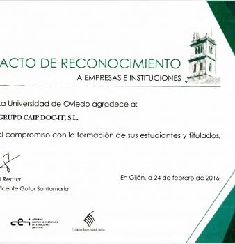 Diploma del compromiso con la formación